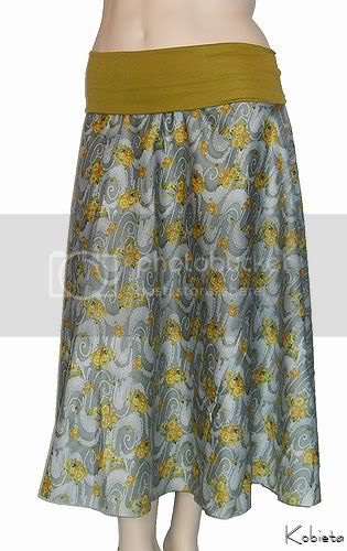 *BLACK FRIDAY SALE*Kobieta 1/2 Circle Skirt~Eastern Lagoona Print~Size Med/Large-Matching Child Skir